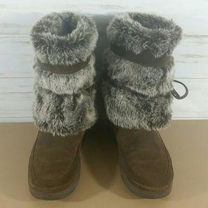 Skechers Shoes - Skechers brown fur lined suede winter boots